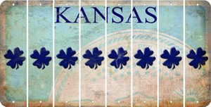 Kansas SHAMROCK Cut License Plate Strips (Set of 8) LPS-KS1-082