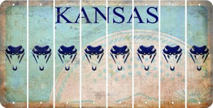 Kansas SNAKE Cut License Plate Strips (Set of 8) LPS-KS1-088