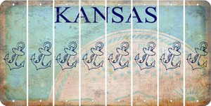 Kansas ANCHOR Cut License Plate Strips (Set of 8) LPS-KS1-093