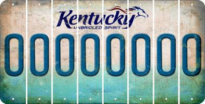 Kentucky O Cut License Plate Strips (Set of 8) LPS-KY1-015