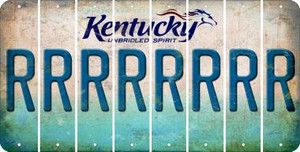 Kentucky R Cut License Plate Strips (Set of 8) LPS-KY1-018