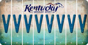Kentucky V Cut License Plate Strips (Set of 8) LPS-KY1-022