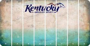 Kentucky BLANK Cut License Plate Strips (Set of 8) LPS-KY1-037
