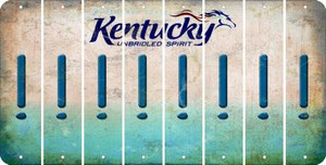 Kentucky EXCLAMATION POINT Cut License Plate Strips (Set of 8) LPS-KY1-041
