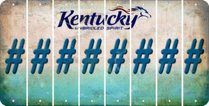 Kentucky HASHTAG Cut License Plate Strips (Set of 8) LPS-KY1-043