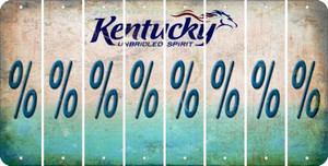 Kentucky PERCENT SIGN Cut License Plate Strips (Set of 8) LPS-KY1-046