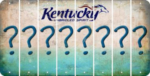 Kentucky QUESTION MARK Cut License Plate Strips (Set of 8) LPS-KY1-047