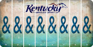 Kentucky AMPERSAND Cut License Plate Strips (Set of 8) LPS-KY1-049