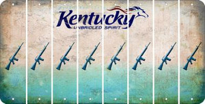Kentucky M16 RIFLE Cut License Plate Strips (Set of 8) LPS-KY1-052