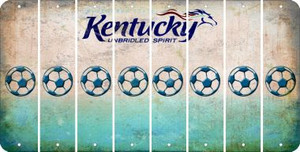 Kentucky SOCCERBALL Cut License Plate Strips (Set of 8) LPS-KY1-061