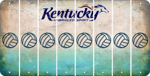 Kentucky VOLLEYBALL Cut License Plate Strips (Set of 8) LPS-KY1-065