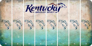 Kentucky FISH Cut License Plate Strips (Set of 8) LPS-KY1-086