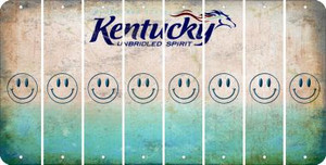 Kentucky SMILEY FACE Cut License Plate Strips (Set of 8) LPS-KY1-089