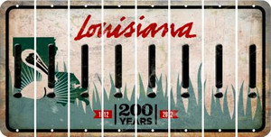 Louisiana EXCLAMATION POINT Cut License Plate Strips (Set of 8) LPS-LA1-041