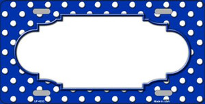 Scallop Blue White Polka Dot Wholesale Metal Novelty License Plate