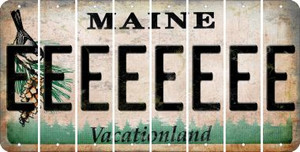 Maine E Cut License Plate Strips (Set of 8)