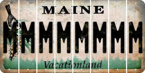 Maine M Cut License Plate Strips (Set of 8) LPS-ME1-013