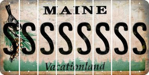 Maine S Cut License Plate Strips (Set of 8) LPS-ME1-019
