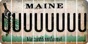 Maine U Cut License Plate Strips (Set of 8) LPS-ME1-021