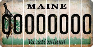 Maine 0 Cut License Plate Strips (Set of 8) LPS-ME1-027