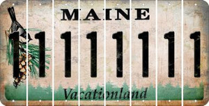 Maine 1 Cut License Plate Strips (Set of 8) LPS-ME1-028