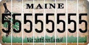 Maine 5 Cut License Plate Strips (Set of 8) LPS-ME1-032