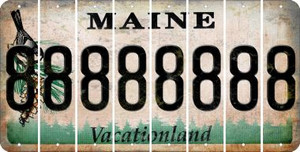 Maine 8 Cut License Plate Strips (Set of 8) LPS-ME1-035