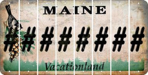 Maine HASHTAG Cut License Plate Strips (Set of 8) LPS-ME1-043