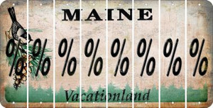 Maine PERCENT SIGN Cut License Plate Strips (Set of 8) LPS-ME1-046