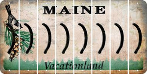 Maine RIGHT PARENTHESIS Cut License Plate Strips (Set of 8) LPS-ME1-048