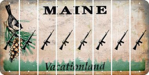 Maine M16 RIFLE Cut License Plate Strips (Set of 8) LPS-ME1-052