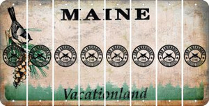 Maine 2ND AMENDMENT Cut License Plate Strips (Set of 8) LPS-ME1-056