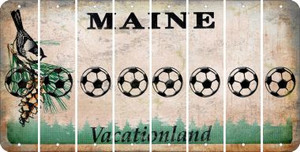 Maine SOCCERBALL Cut License Plate Strips (Set of 8) LPS-ME1-061
