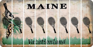 Maine TENNIS Cut License Plate Strips (Set of 8) LPS-ME1-064