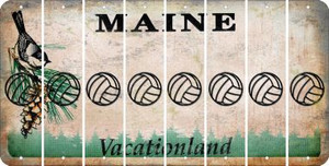 Maine VOLLEYBALL Cut License Plate Strips (Set of 8) LPS-ME1-065
