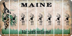 Maine TEEN BOY Cut License Plate Strips (Set of 8) LPS-ME1-068