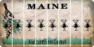 Maine TEEN GIRL Cut License Plate Strips (Set of 8) LPS-ME1-069