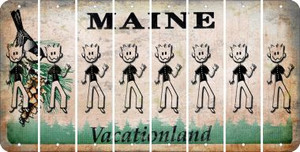 Maine DAD Cut License Plate Strips (Set of 8) LPS-ME1-071