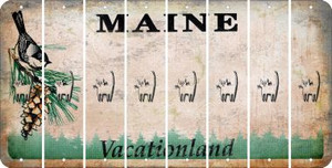 Maine CAT Cut License Plate Strips (Set of 8) LPS-ME1-072