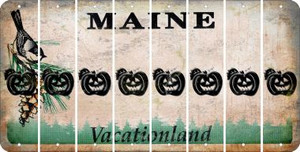 Maine PUMPKIN Cut License Plate Strips (Set of 8) LPS-ME1-075