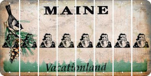 Maine SANTA Cut License Plate Strips (Set of 8) LPS-ME1-078
