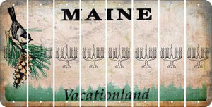 Maine MENORAH Cut License Plate Strips (Set of 8) LPS-ME1-080