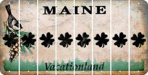 Maine SHAMROCK Cut License Plate Strips (Set of 8) LPS-ME1-082