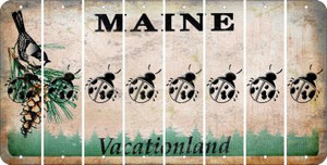 Maine LADYBUG Cut License Plate Strips (Set of 8) LPS-ME1-087