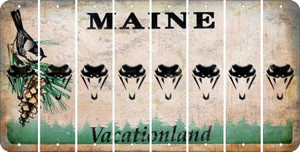 Maine SNAKE Cut License Plate Strips (Set of 8) LPS-ME1-088