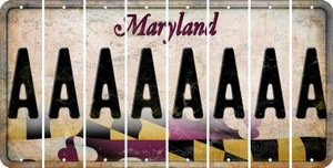 Maryland A Cut License Plate Strips (Set of 8) LPS-MD1-001