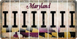 Maryland I Cut License Plate Strips (Set of 8) LPS-MD1-009