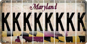 Maryland K Cut License Plate Strips (Set of 8) LPS-MD1-011