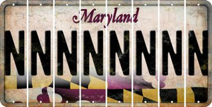 Maryland N Cut License Plate Strips (Set of 8) LPS-MD1-014