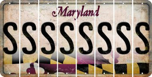 Maryland S Cut License Plate Strips (Set of 8) LPS-MD1-019